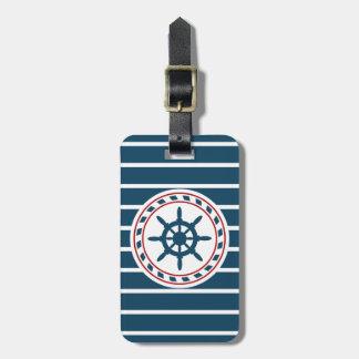 Nautical design luggage tag