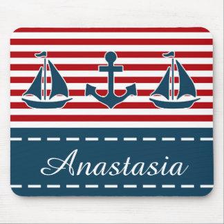 Nautical design mouse pad