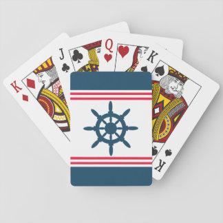 Nautical design poker cards