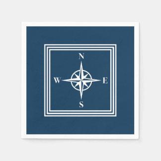 Nautical design paper napkin