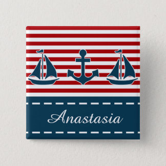 Nautical design pinback button