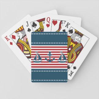 Nautical design playing cards