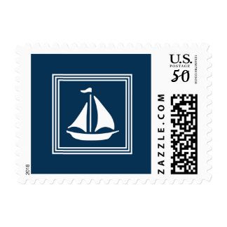 Nautical design postage
