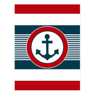 Nautical design postcard