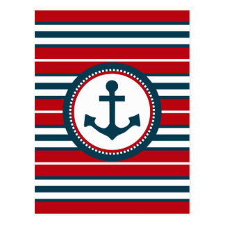 Nautical design postcard