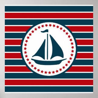 Nautical design poster