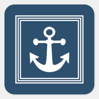 Nautical design square sticker