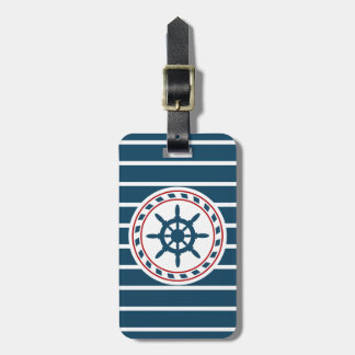Nautical design tag for luggage