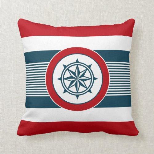 Nautical design throw pillow - nautical decorative pillows