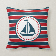 Nautical design throw pillow