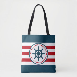 Nautical design tote bag