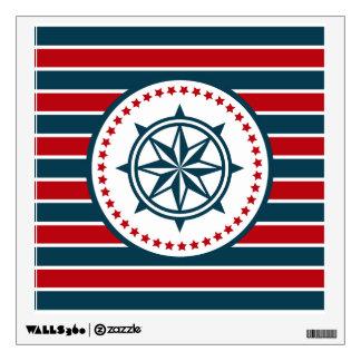 Nautical design wall decal