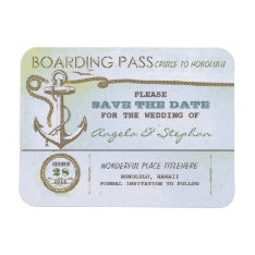 Nautical Destination Wedding Save The Date Magnet at Zazzle
