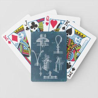 Nautical Detail Blueprint IV Bicycle Playing Cards