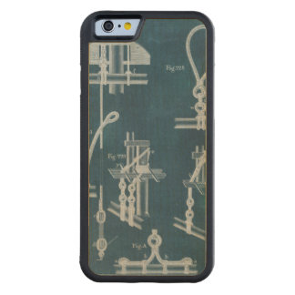 Nautical Detail Blueprint IV Carved Maple iPhone 6 Bumper Case