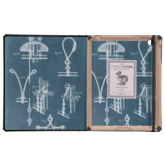 Nautical Detail Blueprint IV iPad Cases