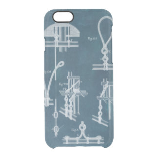 Nautical Detail Blueprint IV Clear iPhone 6/6S Case