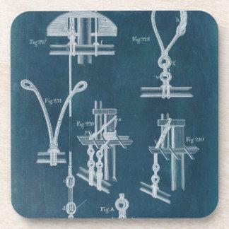 Nautical Detail Blueprint IV Drink Coaster