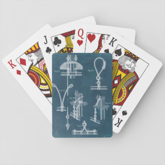 Nautical Detail Blueprint IV Playing Cards