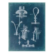 Nautical Detail Blueprint IV Postcard