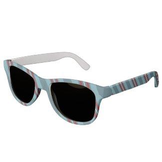 Nautical Diagonal Stripes Sunglasses