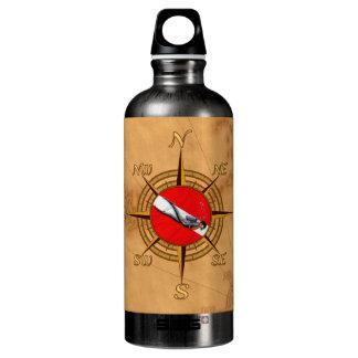 Nautical Dive Compass Aluminum Water Bottle