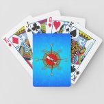 Nautical Dive Compass Poker Deck