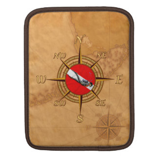 Nautical Dive Compass Sleeves For iPads