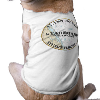 Nautical Dog Nautical Downtown Stuart Florida Tee