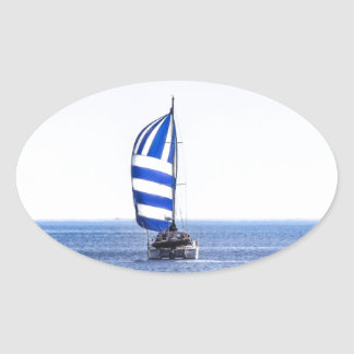 Nautical Dreams Oval Sticker
