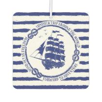 Nautical Emblem With Sailing Ship Air Freshener