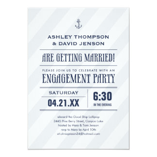Nautical Engagement Party invitations