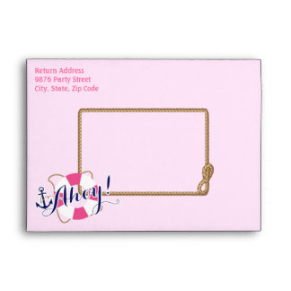 Nautical Envelope Style: A7 Greeting Card