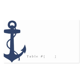 Nautical Escort Card Double-Sided Standard Business Cards (Pack Of 100)