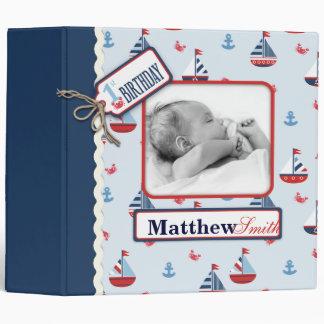 Nautical First Birthday Album Binder