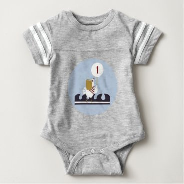 Ocean Themed Nautical First Birthday Bodysuit Outfit
