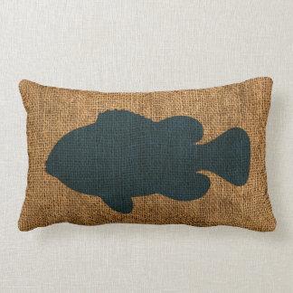 Nautical Fish Deep Sea Blue Lumbar Pillow