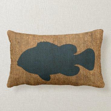 Beach Themed Nautical Fish Deep Sea Blue Lumbar Pillow