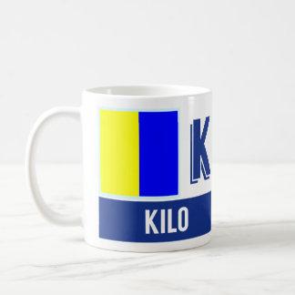 """Nautical Flag Alphabet """"K"""" Kilo Coffee Mug"""