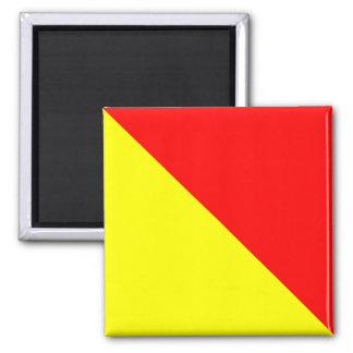Nautical Flag Alphabet Sign Letter O (Oscar) Magnet