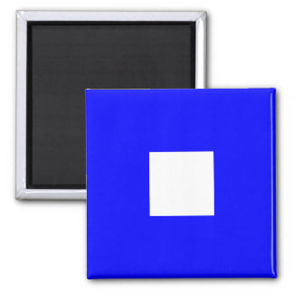 Nautical Flag Alphabet Sign Letter P (Papa) Magnet