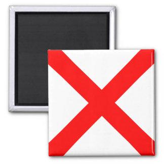 Nautical Flag Alphabet Sign Letter V (Victor) 2 Inch Square Magnet