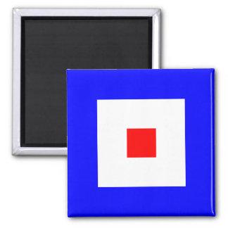Nautical Flag Alphabet Sign Letter W (Whiskey) Magnet