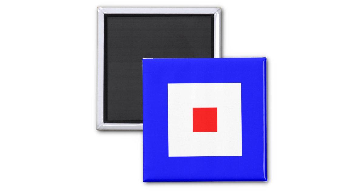 Nautical Flag Alphabet Sign Letter W Whiskey Magnet Zazzle Com