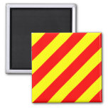 Nautical Flag Alphabet Sign Letter Y (Yankee) 2 Inch Square Magnet