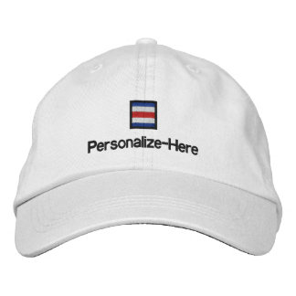 "Nautical Flag ""C"" Personalized Boater's Hat"