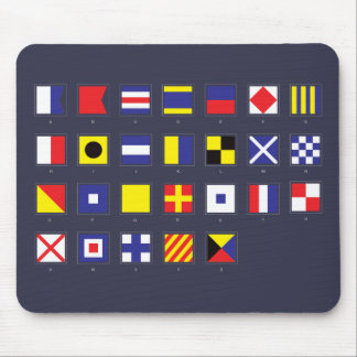 Nautical Flag Chart Mouse Pad
