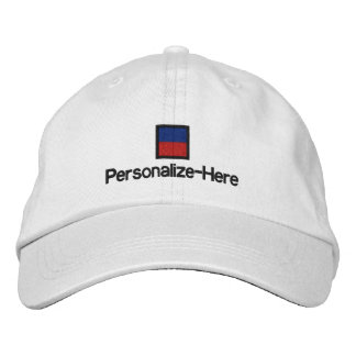 """Nautical Flag """"E"""" Personalized Boater's Hat"""