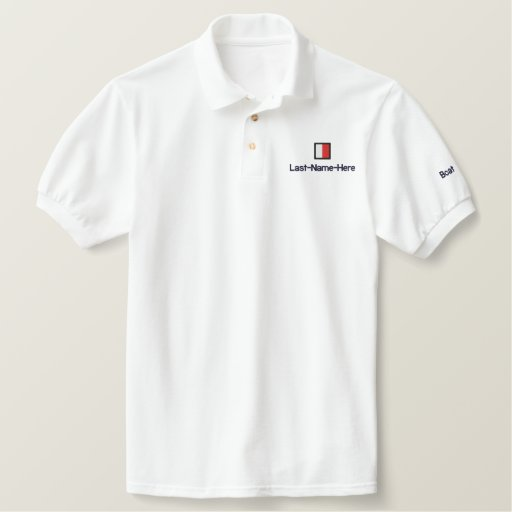 """Nautical Flag """"H"""" Shirt - Personalize Two Places"""