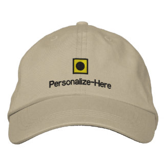 """Nautical Flag """"I"""" Personalized Boater's Hat Embroi"""